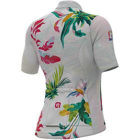 Alé Cycling Solid Tropika Maglietta a maniche corte Donna, white/multicolour